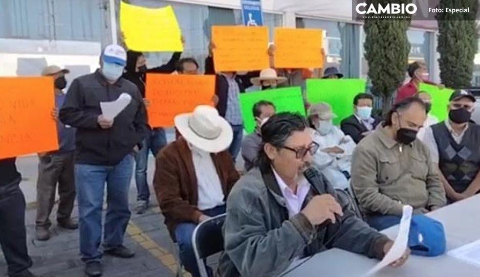 Pobladores de San Andrés Cholula exigen detener expropiación ilegal de sus tierras