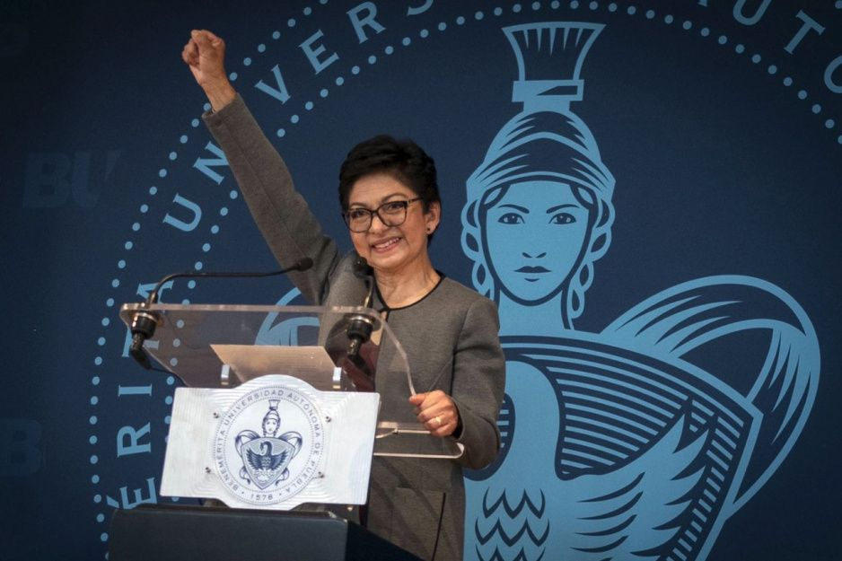 Lilia Cedillo hace historia; así fue su toma de protesta al frente de la BUAP (VIDEO)
