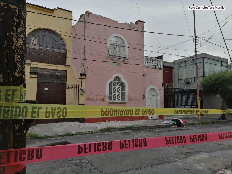 ¡Peligro! Vivienda de la 20 oriente en San Francisco a punto de colapsar (VIDEO)