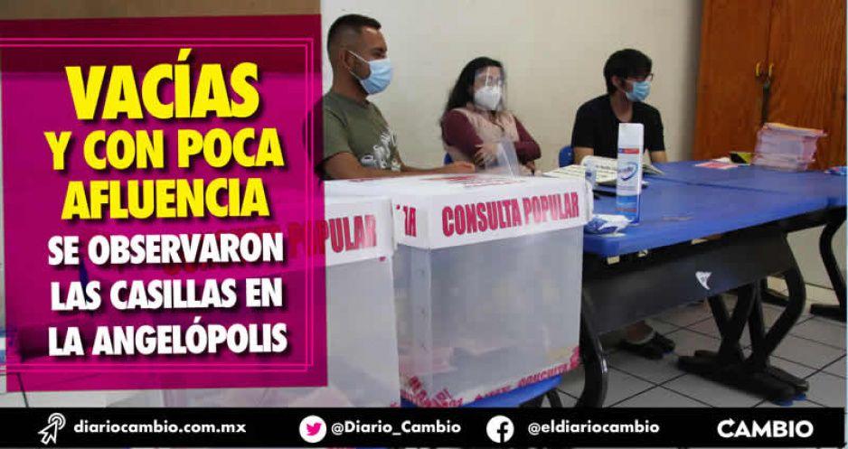Fracasa consulta en Puebla: sólo 355 mil salieron a votar, el 7.4 % del padrón local (FOTOS Y VIDEOS)