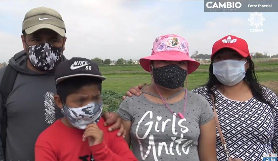 ¿Encajosos? Familia del socavón ahora quieren que el gobierno les pague la renta