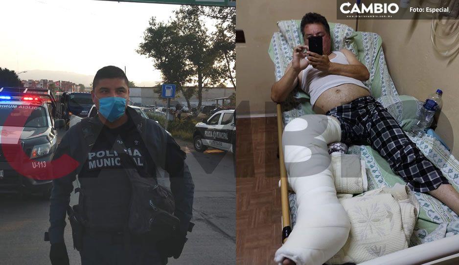¡Policías abusivos! Denuncian a nueve uniformados de Xiutetelco por someter a un ciudadano (FOTOS y VIDEO)