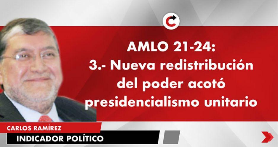AMLO 21-24: 3.- Nueva redistribución del poder acotó presidencialismo unitario