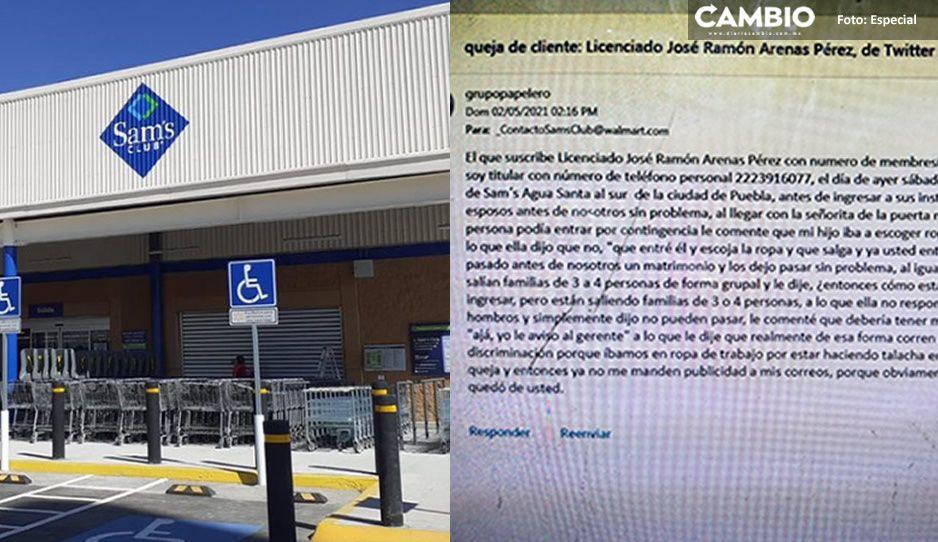 """Discriminación en Sam's de Periplaza; acusan de prohibir entrada a socios """"malvestidos"""""""