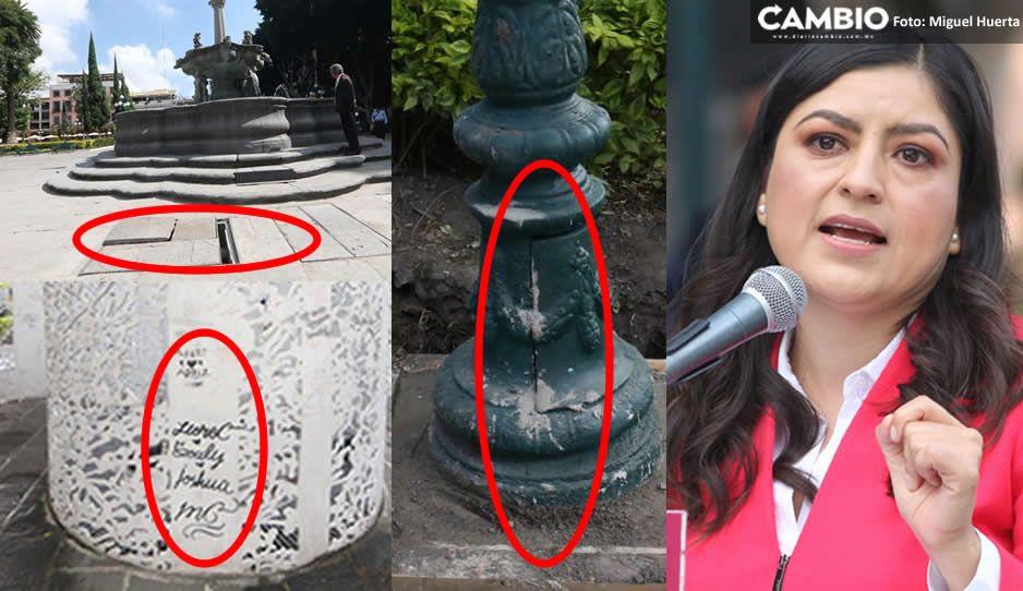 RECORRIDO: Inconclusa, así entregó Claudia la obra en el Zócalo (FOTOS y VIDEO)