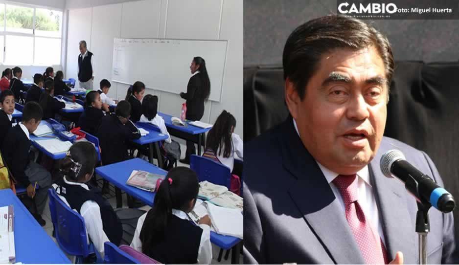 Ciclo escolar terminará de manera virtual en Puebla, determina Barbosa