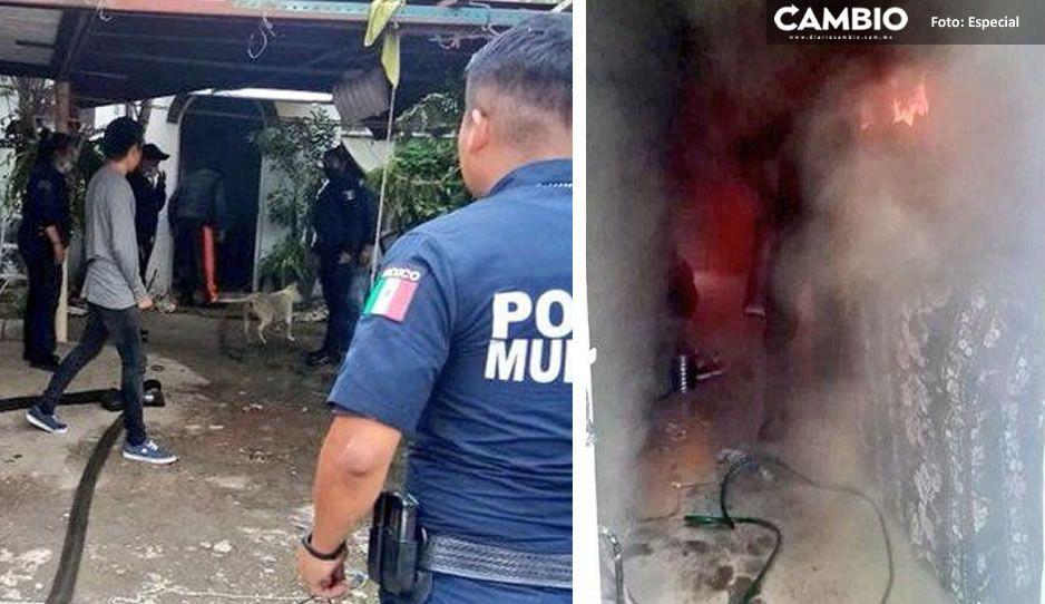Familia pierde sus pertenencias en fatal incendio en colonia Lares de San Alfonso