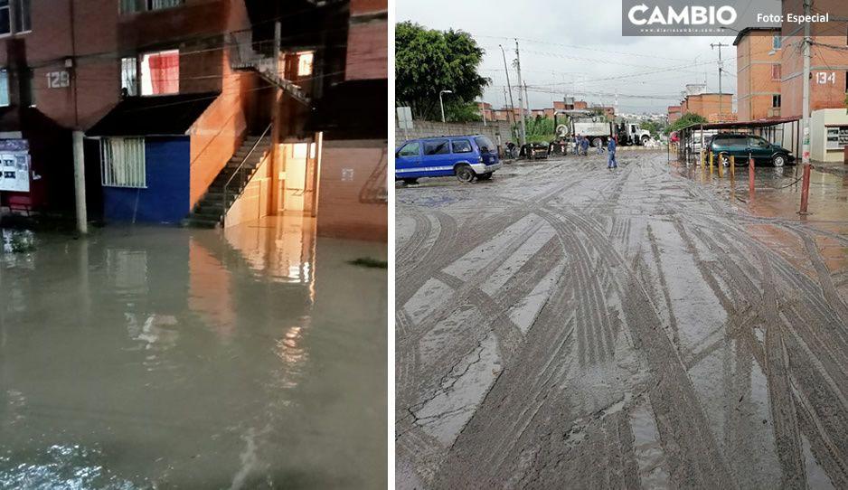 Tehuacán bajo el agua; Dren de Valsequillo se desborda tras terribles lluvias e inunda casas y escuelas