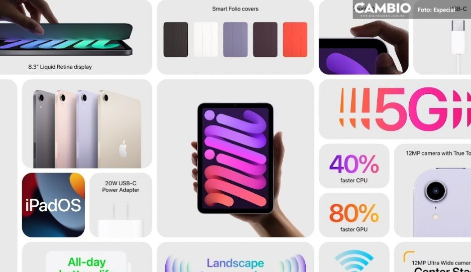 Apple presenta nuevo iPad Mini: conoce todas sus características