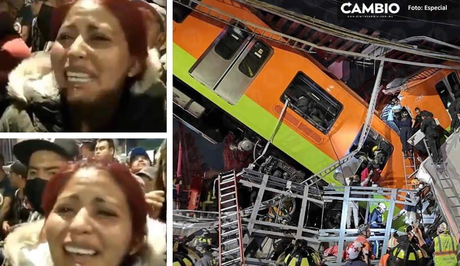 Familiares  buscan a desaparecidos a través de redes tras colapso del metro