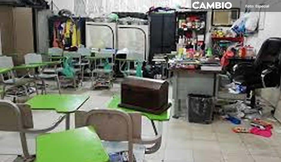 En Atlixco ya preparan reequipamiento de escuelas saqueadas durante la pandemia