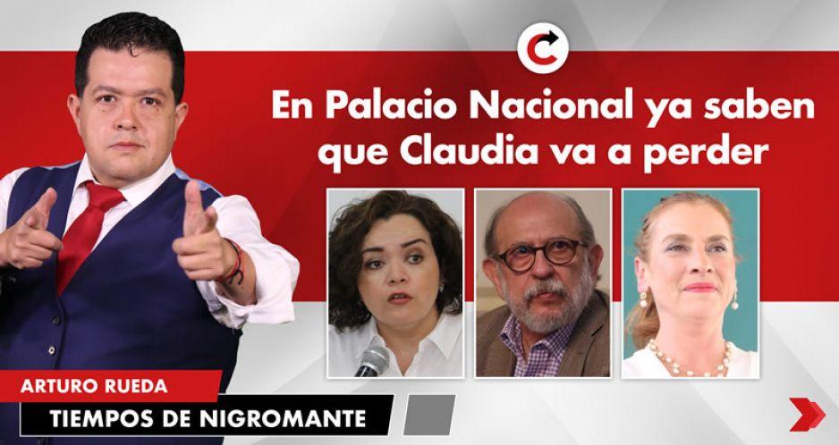 En Palacio Nacional ya saben que Claudia va a perder