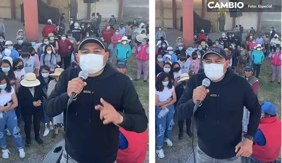 VIDEO: Reaparece El Toñín en mitin para victimizarse y exigir la liberación de su hermano
