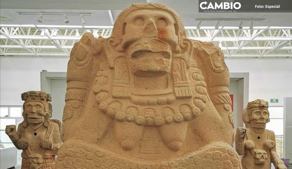 Con bloqueo, tehuacaneros pretenden impedir que el INAH se lleve piezas del Museo de Sitio