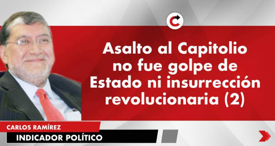 Asalto al Capitolio no fue golpe de Estado ni insurrección revolucionaria (2)