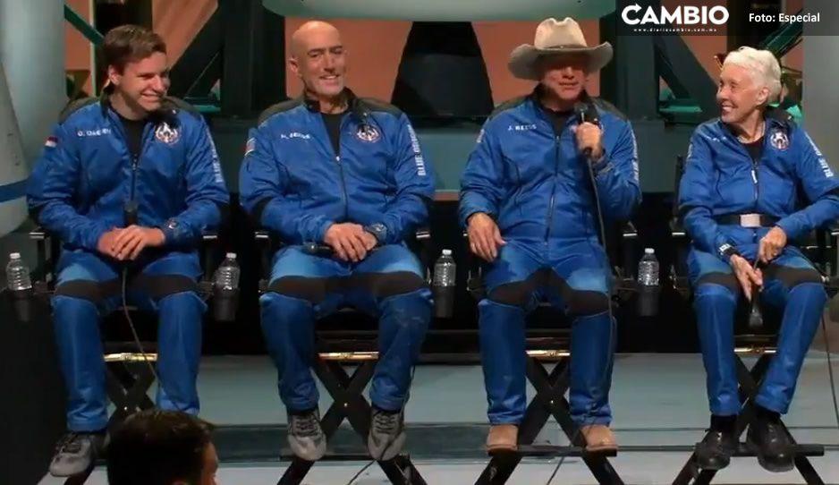 Jeff Bezos se 'burla' de clientes y empleados de Amazon tras su viaje al espacio (VIDEO)