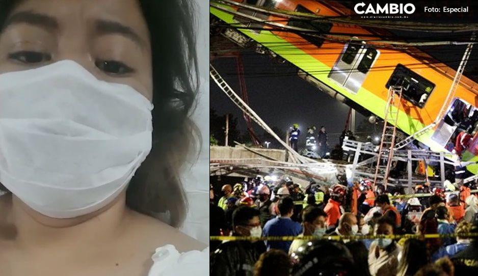 Anayeli narra cómo sobrevivió al colapso del Metro: abajo de mí había mucha gente muerta (VIDEO)