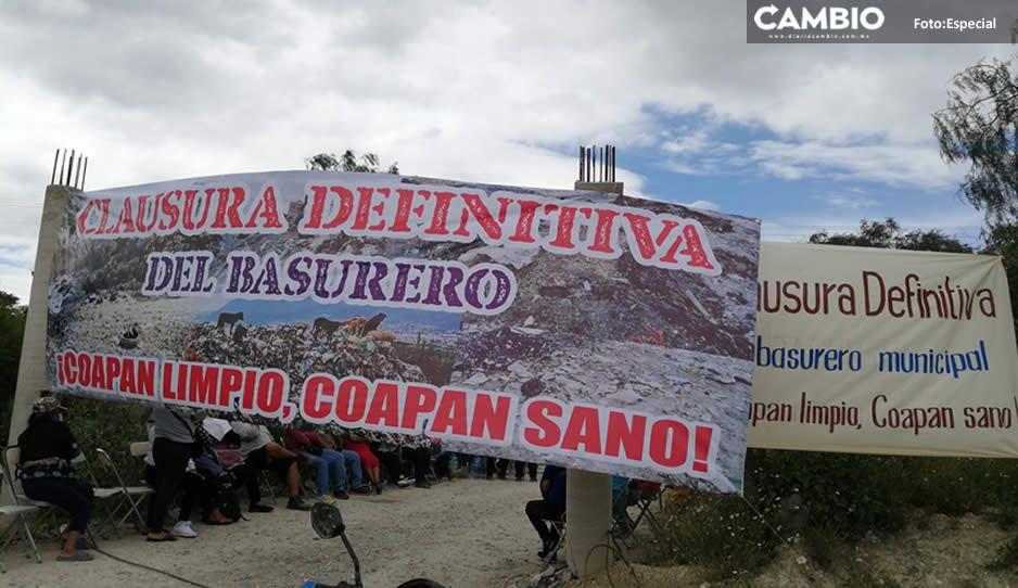 ¡Oootra vez! Pobladores de Coapan cierran el acceso al relleno sanitario de Tehuacán