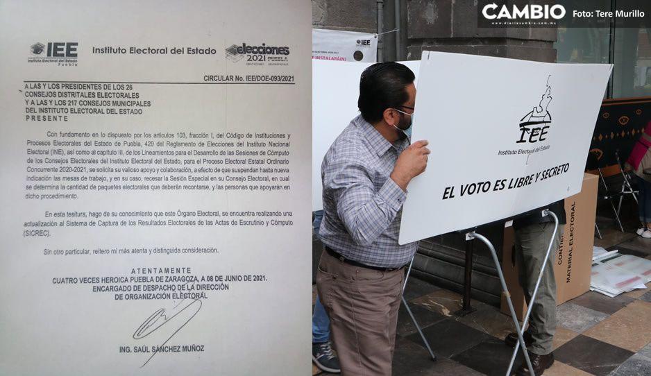 Frena IEE conteo de votos en Consejos municipales y distritales
