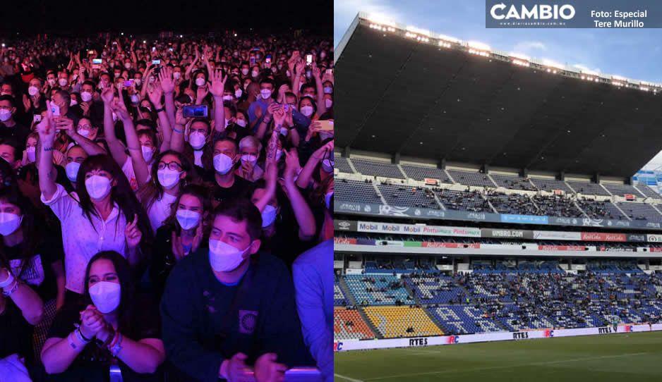 Conciertos, ferias, el Estadio Cuauhtémoc y todos los giros al 100 % de aforo en Puebla (VIDEO)