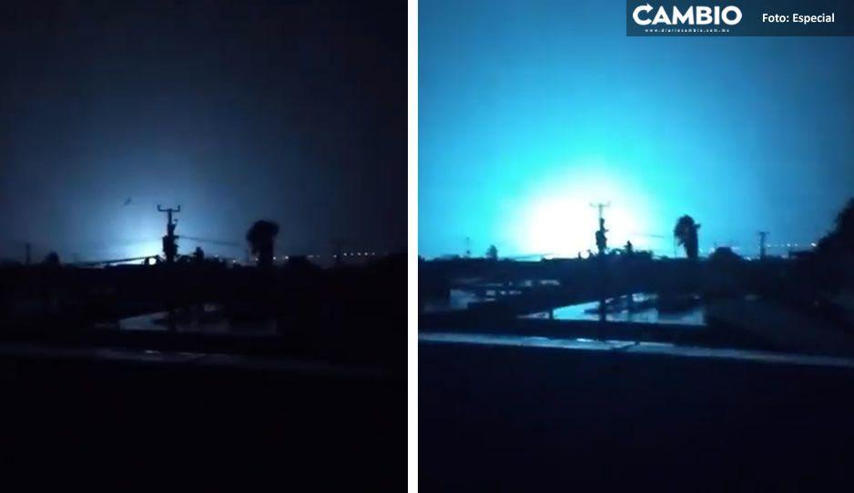 VIDEO: Otra vez luces en el cielo, ahora en Baja California ante la llegada de 'Olaf'