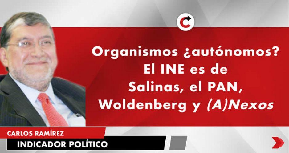 Organismos ¿autónomos? El INE es de Salinas, el PAN, Woldenberg y (A)Nexos