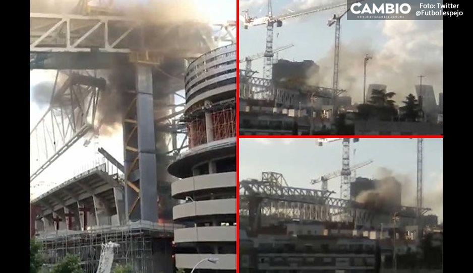 ¡En llamas! Se incendia Estadio Santiago Bernabéu en Real Madrid (VIDEO)