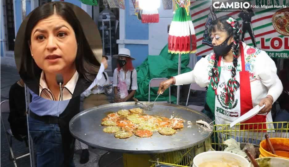 Ambulantes acompañan a Claudia a su Grito: invaden calles cercanas al Zócalo (FOTOS y VIDEO)