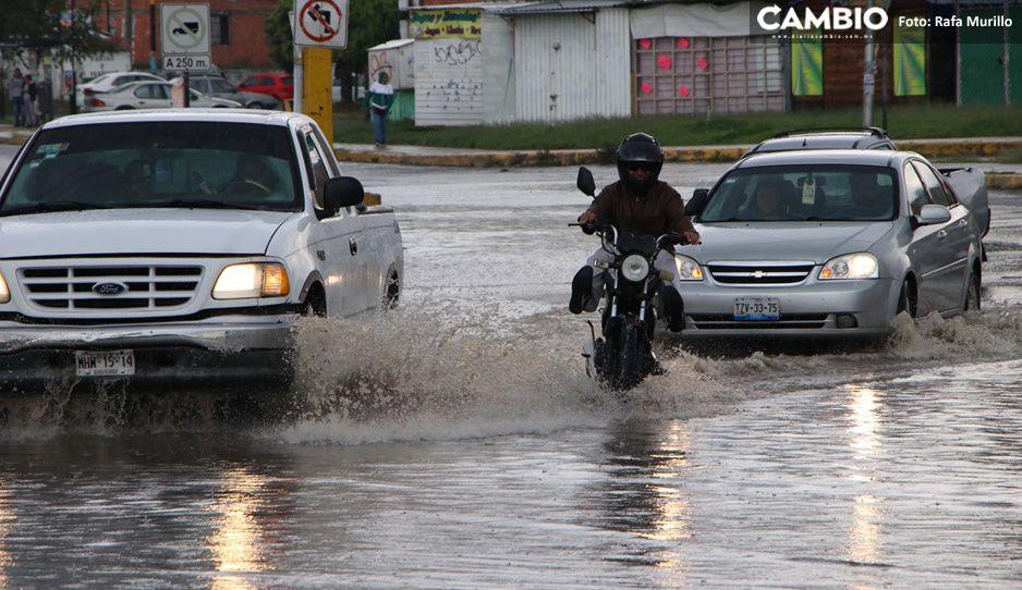 ¡No guardes el paraguas y el impermeable! Lluvias en Puebla seguirán toda la semana