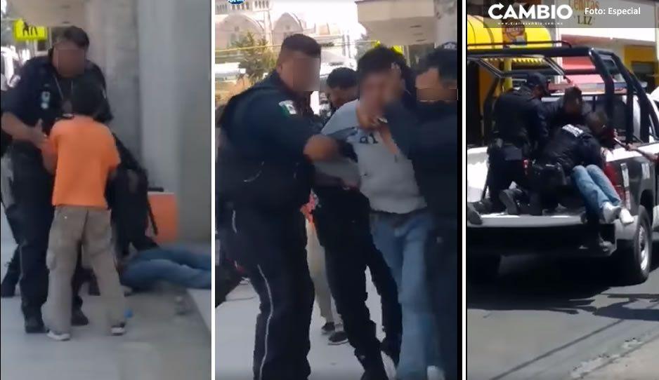 VIDEO: Entre lágrimas, niño suplica a policías que no maltraten a su papá mientras era detenido