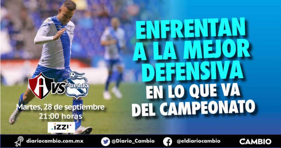 Club Puebla quiere romper la mala racha pero se topa este martes contra el Atlas