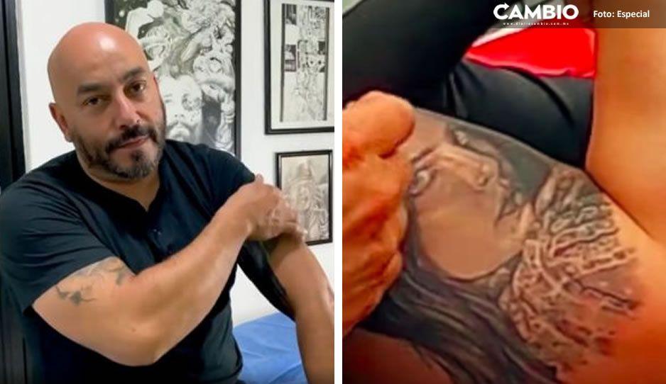 VIDEO: Así quedó el nuevo tatuaje de Lupillo Rivera que borra el rostro de Belinda