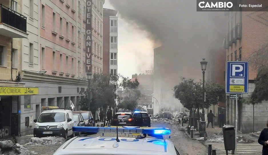 Fuerte explosión en Madrid deja tres muertos y un desaparecido (VIDEO)