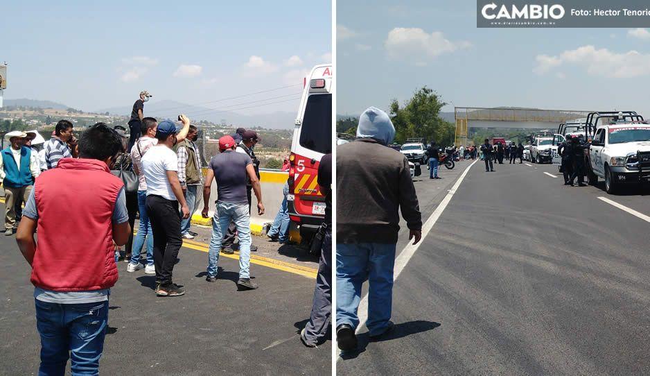 ¡Precaución! Suman 5 horas del cierre en la autopista y federal México-Puebla (VIDEOS y FOTOS)