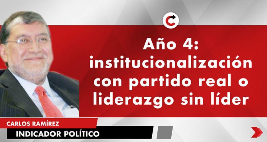 Año 4: institucionalización con partido real o liderazgo sin líder