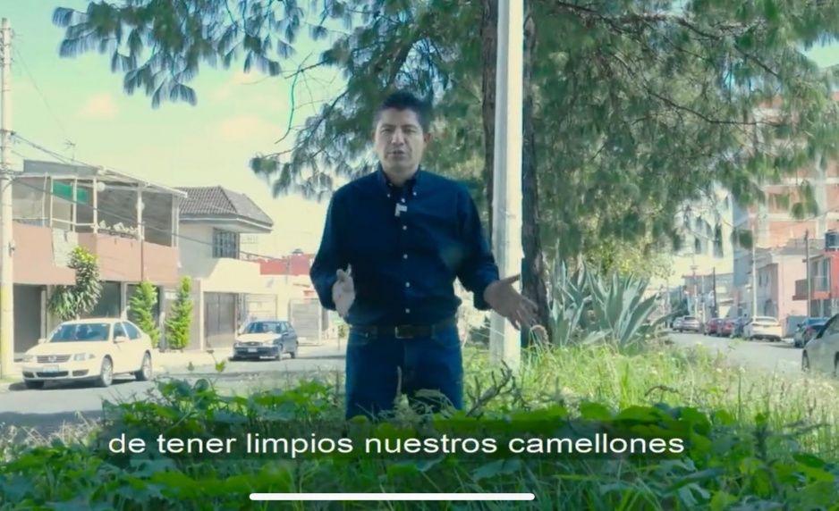 Lalo exhibe camellones descuidados y abandonados por Claudia (VIDEO)