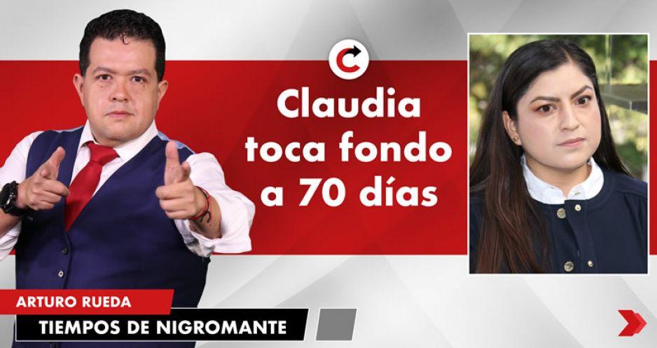 Claudia toca fondo a 70 días