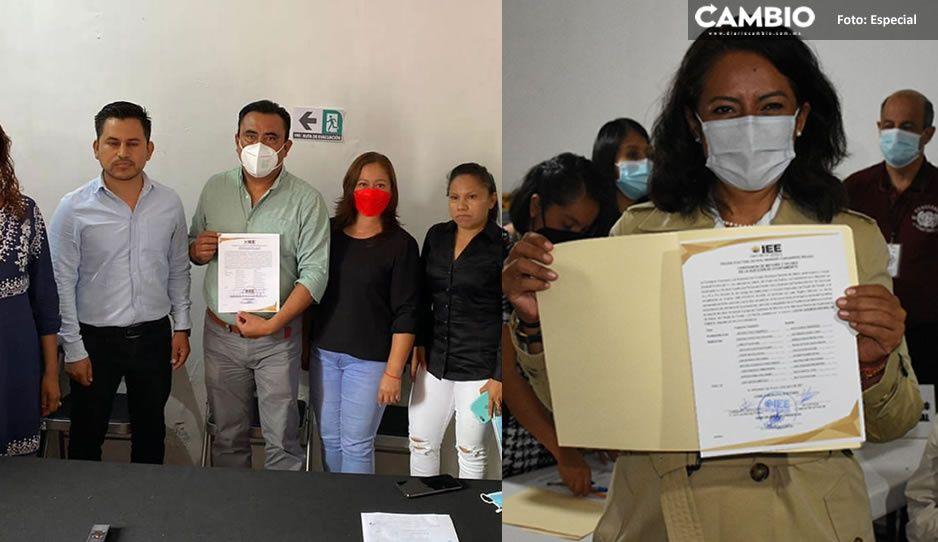 En Huaquechula, Atzitzihuacan y Atlixco reciben constancias de mayoría