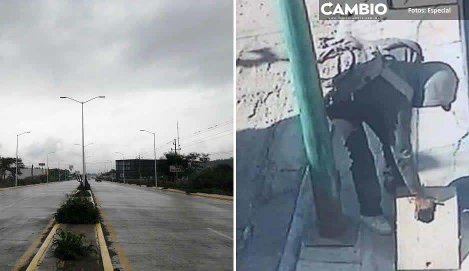 No perdonan nada: en Tehuacán roban cables en parques, calles y todo espacio público