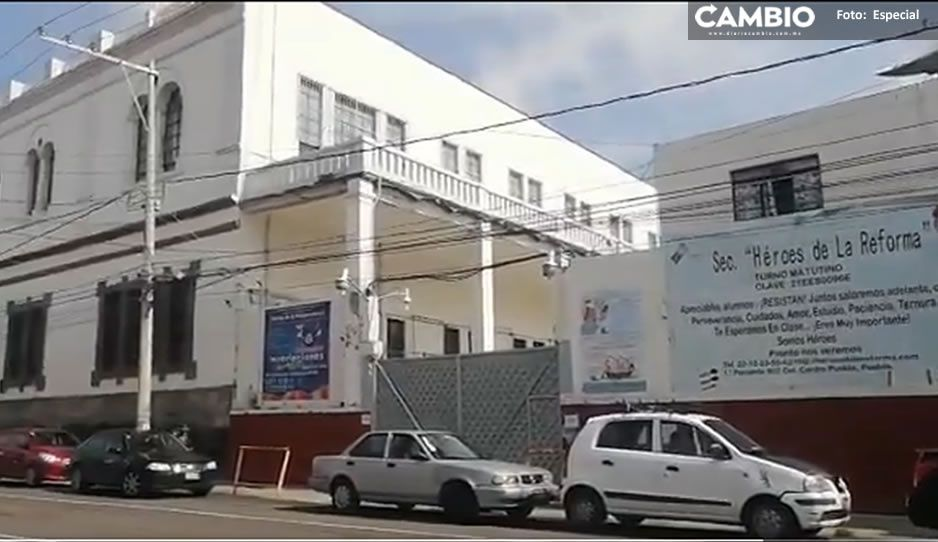 Suspenden clases en Secundaria Héroes de la Reforma tras sismo (VIDEO)