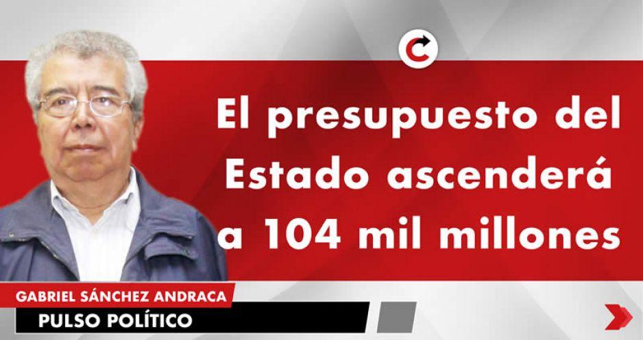 El presupuesto del Estado ascenderá a 104 mil millones