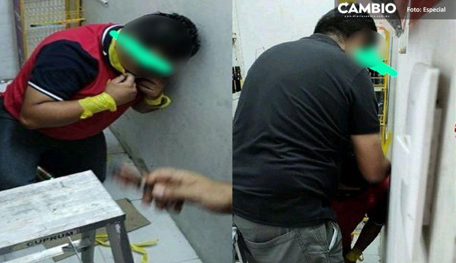 Ladrones amagan a empleados del Oxxo y clientes los salvan en Xocatepec
