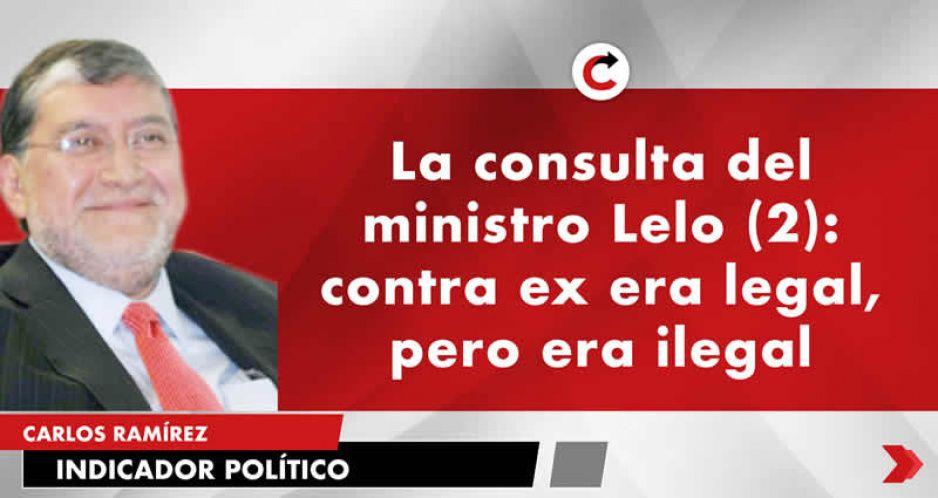 La consulta del ministro Lelo (2): contra ex era legal, pero era ilegal