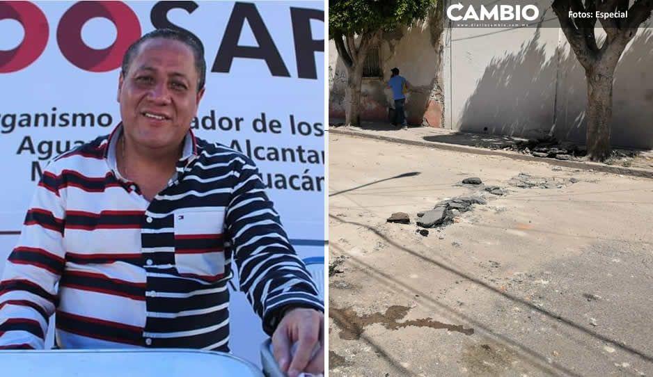 Tehuacaneros hartos por la falta de agua y las obras inconclusas que dejó Jaime Barbosa