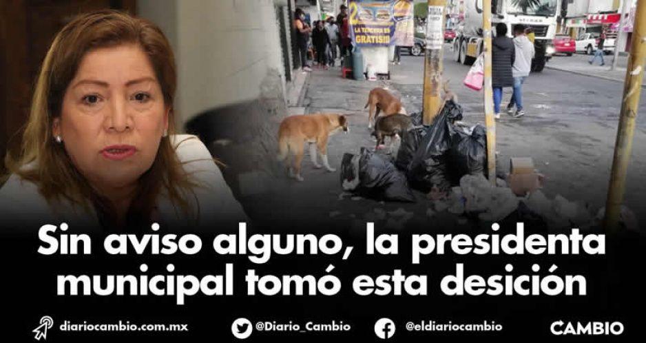 Marisol convierte Tecamachalco en basurero: reduce recorridos de recolección y barrido (FOTOS)