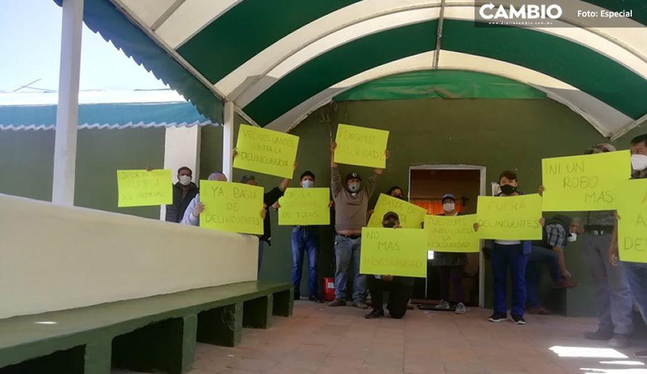 ¡Ni un robo más! Habitantes de El Verde protestan para exigir mayor seguridad