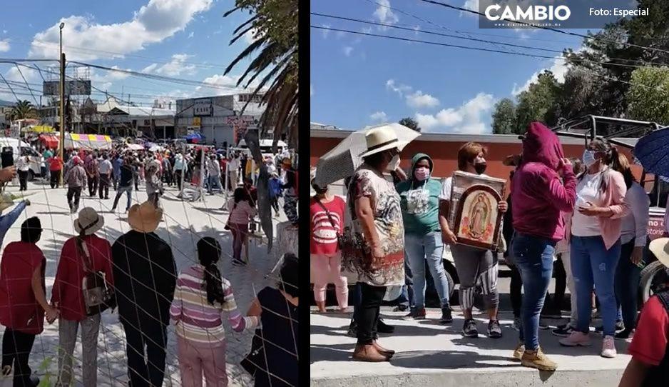 Marisol Cruz juega sucio; manda un grupo de choque para intimidar a los que se oponen a su mercado