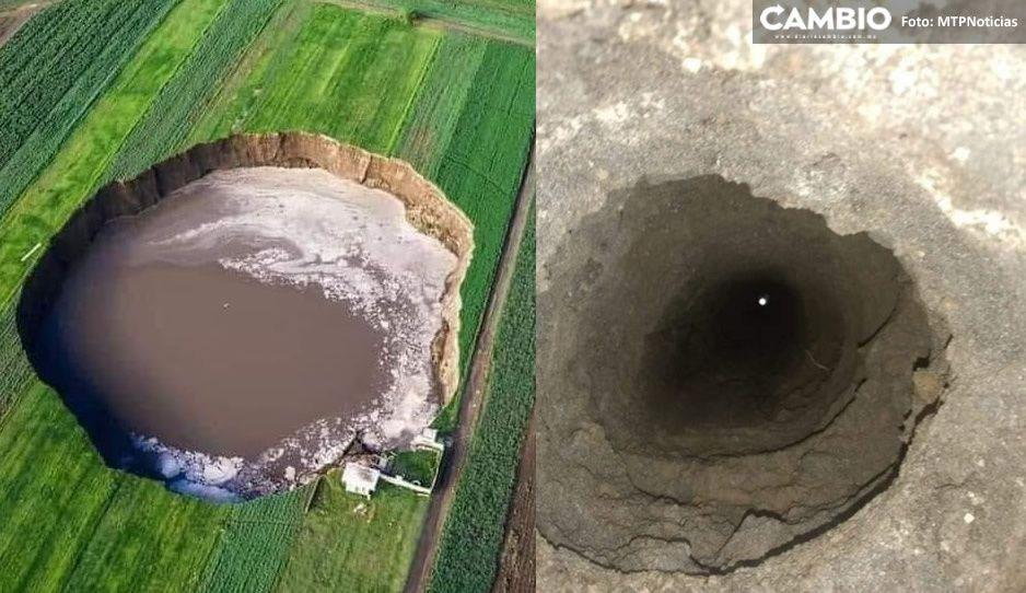 ¡Alerta! Aparecen hoyos profundos cerca del socavón (VIDEO)