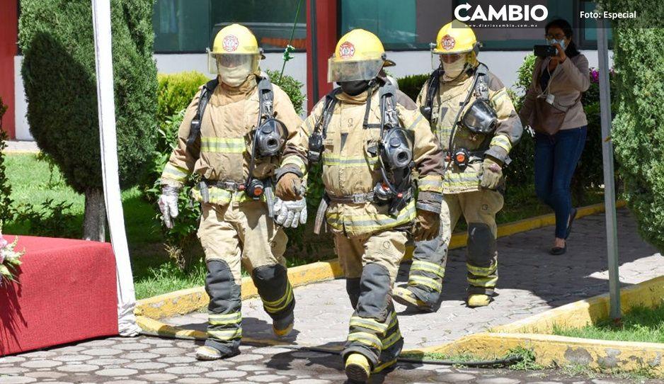 Se realiza simulacro y ceremonia en Texmelucan por sismos del 19 de septiembre