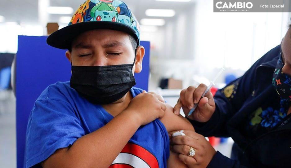 853 mil menores serán vacunados cuando se termine de inmunizar a la chaviza en Puebla